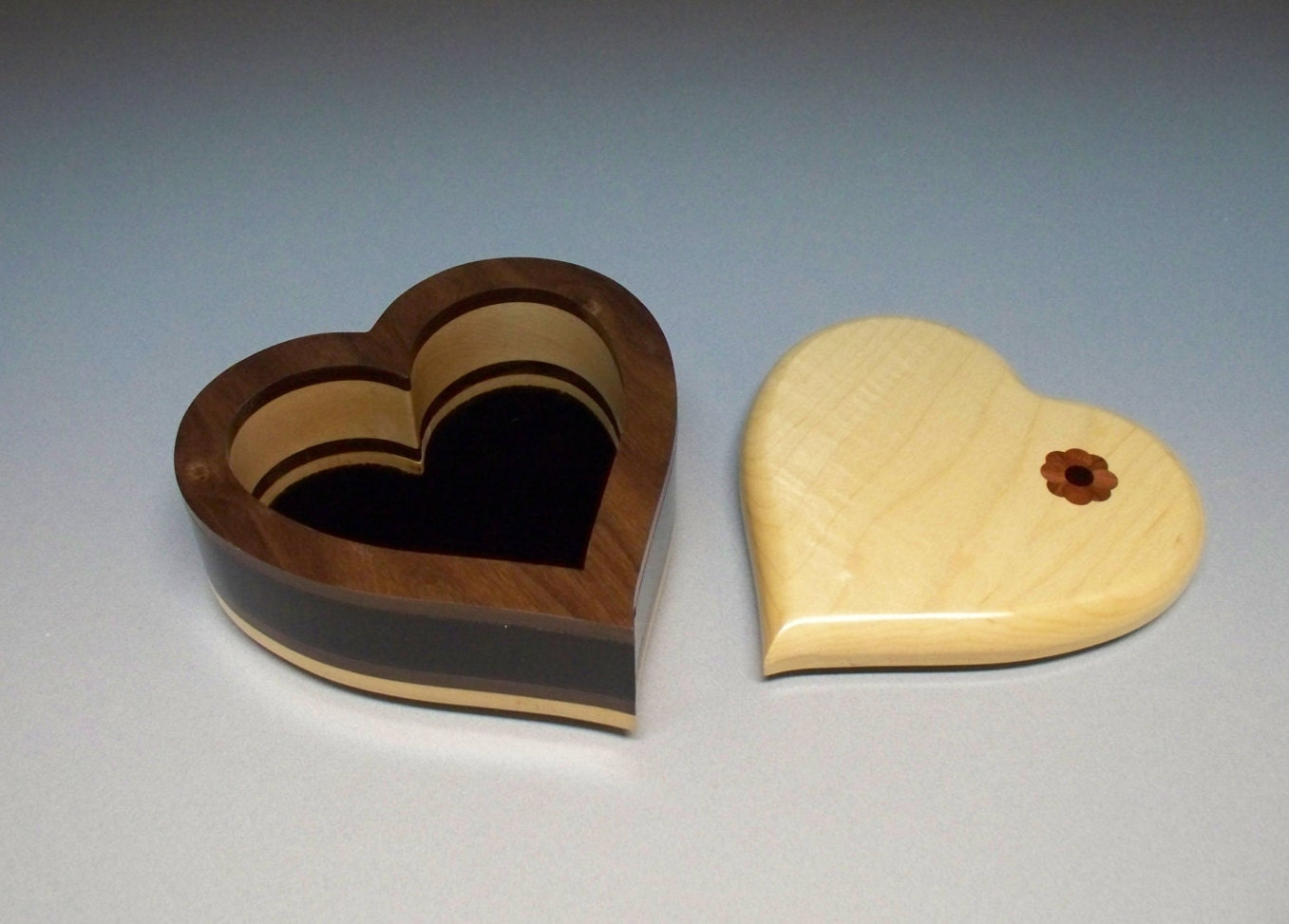 Superb img of Wooden Heart Shaped Jewelry Box With Inlay by CrownWoodcrafting with #A37E28 color and 1357x973 pixels