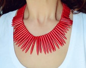 Red Spike Necklace