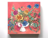 Bright colorful original flower painting still life - From a Table in Greenville