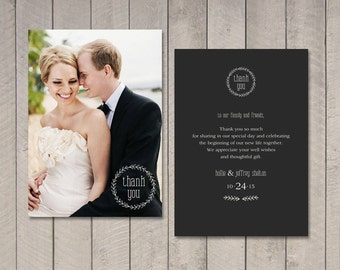 Wedding Thank You Card (Printable) by Vintage Sweet