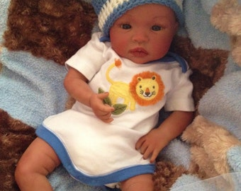 From the Biracial Shyann Kit  Reborn Baby Doll 19 inch Baby Boy Jordan Complete Baby Doll