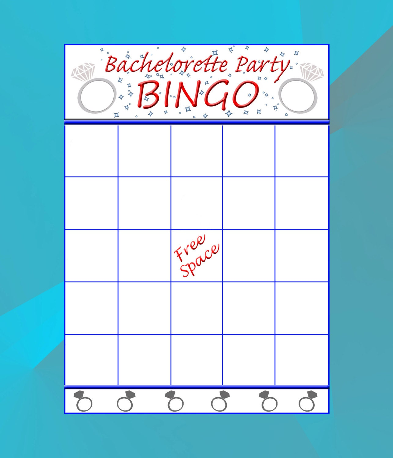 Bachelorette Bingo Cards Game Instant Download Printable