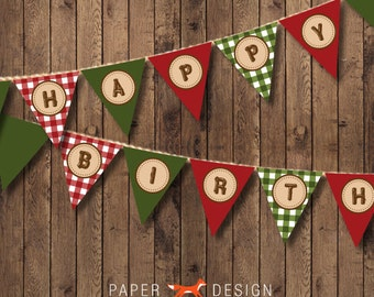 Camp Theme Birthday Banner Printable