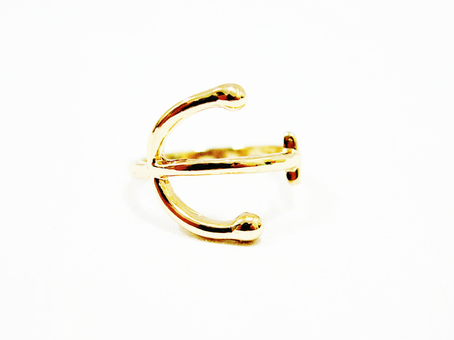 size 6 anchor ring gold anchor ring anchor gold ring by