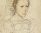 European Master Art Reproduction.   Mary Stuart, Queen of Scots as a young girl, c. 1549. Fine Art Print.