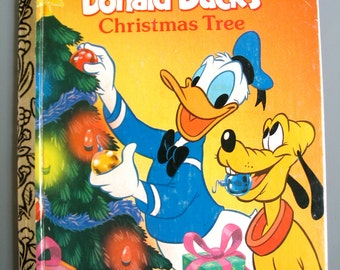 Vintage Golden Book, Donald Duck's Christmas Tree, 1991