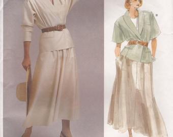 Jacket & Skirt Pattern Vogue 1872 by Ralph Lauren Size 12 Uncut