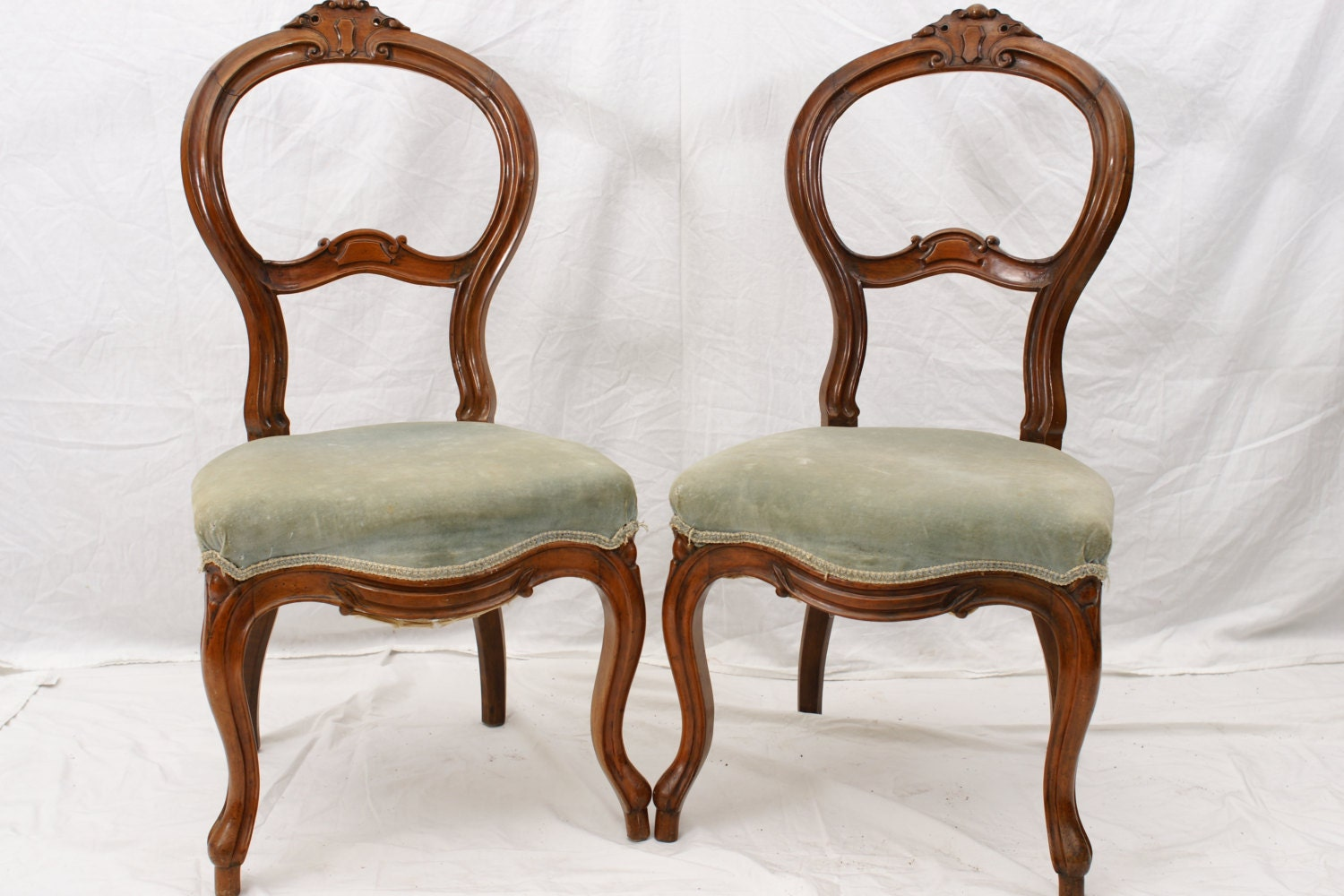 vanity chair pair slipper chairs antique boudoir chairs 87968