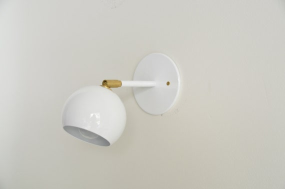 White wall sconce Brass Light multiple colors available