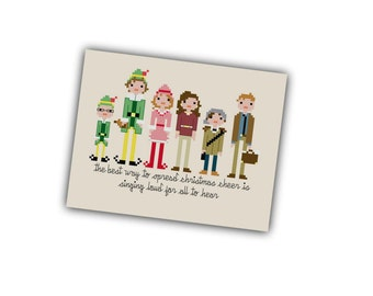 Elf Christmas Cross Stitch Pattern - Pixel People Christmas Cross Stitch PDF - Buddy the Elf