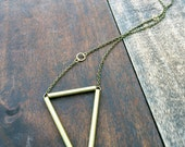 Brass Triangle // Pendant // Handmade Jewelry //