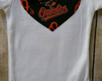 Baltimore Orioles Inspired Heart Shirt