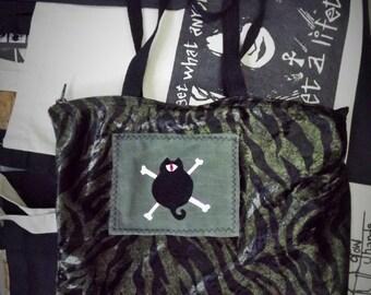 Green Animal Pirate Cat Bag