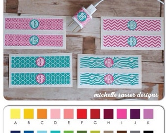 Charger Wrap for iPhone, Monogrammed