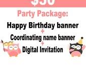 Mickey Mouse Birthday // Minnie Mouse Birthday // Decorations // Birthday Package // Minnie // Mickey // name // Happy // digital invitation