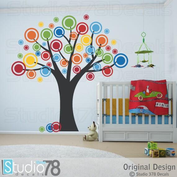 Nursery Tree Vinyl Wall Decal Polka Dots Bubble Tree - Vinyl vinyl wall decals bubbles