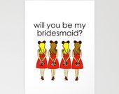 PRINTABLE: Disney Bridesmaid Proposal Card - Blank 5x7 Greeting Card