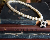 Victorian Jewelry Victorian Pearl Choker Imitation Pearl Necklace Upcyled Jewelry Choker Jewelry Pearl Choker Pearl Necklace