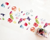 Designer special Custom made paper masking tape - Limited Edition Story collect Symphony gem Color Crystal 1 ROLL