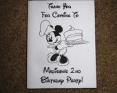 PDF FILE ONLY-- Minnie Mouse Clubhouse Inspired Personalized Coloring Pages Booklets Books Birthday Party Favors 1st