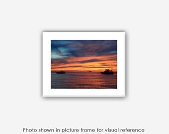 Menemsha Beach Sunset Photographs, Art Prints, Blank Photo Greeting Cards, Note Cards, Card Sets, Beach Sunset Martha's Vineyard Photography