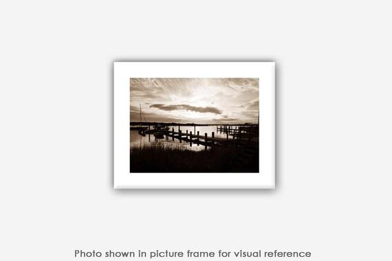 Menemsha Photographs, Sepia Art Prints, Peaceful Ocean Photos, Martha's Vineyard Photography, Landscape, Nature Photo Greeting Card Sets