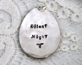 Silent Night VINTAGE SPOON ORNAMENT Christmas Ornament Silverware Ornament Keepsake Gift Under 15 Made in Usa