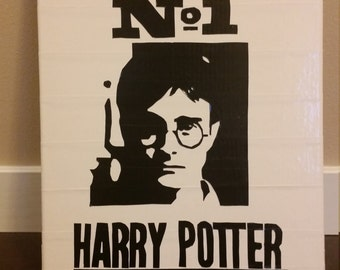 DUCT TAPE harry potter (Undesirable #1) on 11 x 14 Canvas
