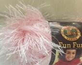 Pink Soft Pastel Fun Fur Eyelash Yarn Lion Brand Bulky