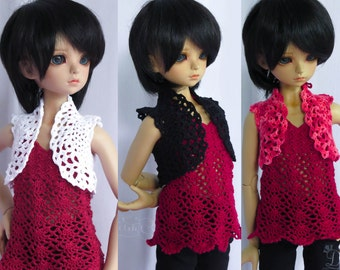 1/4 doll ~ Custom - crocheted Bolero   BJD (40/45 cm)