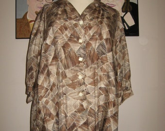 Size 5X to 6X Washable SILK Blouse