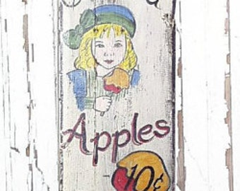 Candied Apples Sign...Vintage and Retro Sign