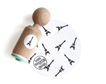 The Eiffel Tower Mini Stamp with mint rubber