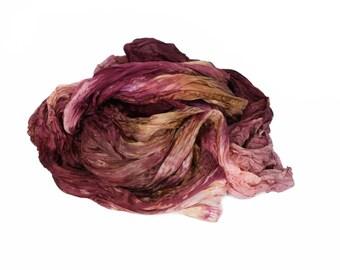burgundy silk scarf - Rose Velvet Mist  - pink, brown, burgundy silk scarf