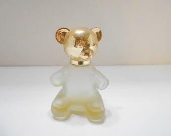 Vintage Avon Teddy Bear Decanter (5) Almost Empty Decanter--No Fragrance Label