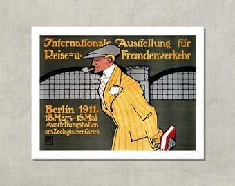 International Exhibitions For Tourists - Berlin, 1911 - 8.5x11 Poster Print - also available in 11x14 and 13x19 - see listing details
