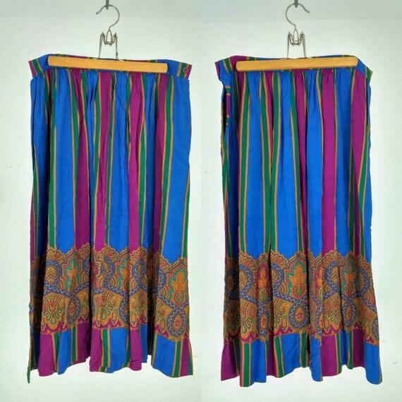 items similar to multi colored striped midi or maxi skirt