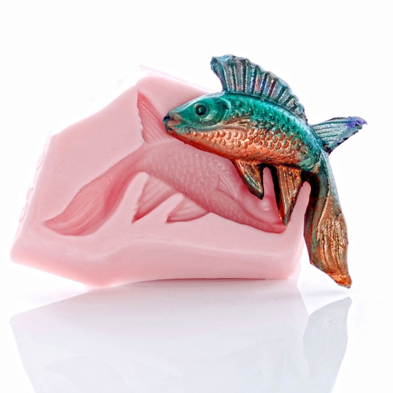 Mold flexible silicone fish mould food safe fondant for Silicone fish molds