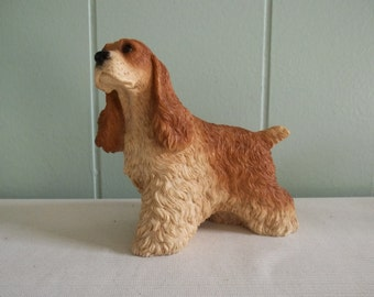 Cocker Spaniel dog figurine by Castagna, Made in Italy, blond dog statue made of high quality heavy resin, gift for dog lover, collectible