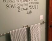 """Bathroom decor -Bathroom subway art-18""""H x 39""""W"""
