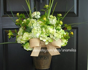 spring wreath summer wreaths outdoor wreaths for front door wreaths summer decor hydrangeas wreaths