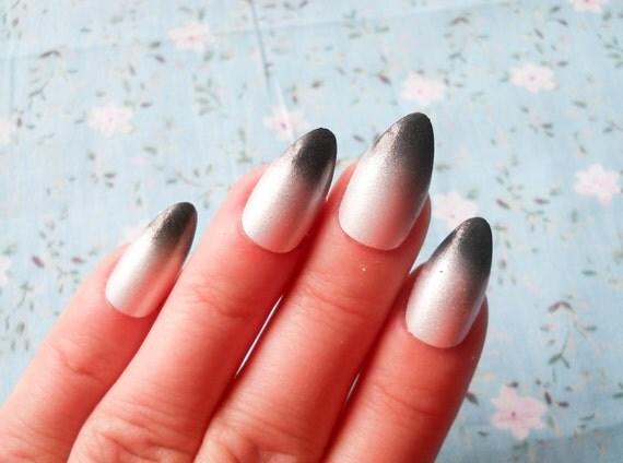 24 Pearl Ombre Stiletto Nails