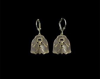 Coton de Tulear earrings - gold
