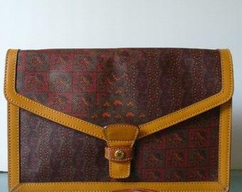 Vintage Escada Made in Italy Paisley Shoulder Bag