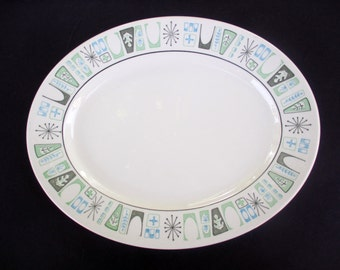 Taylor Smith Taylor Atomic Taylorstone Cathay Pattern - Large Oval Platter