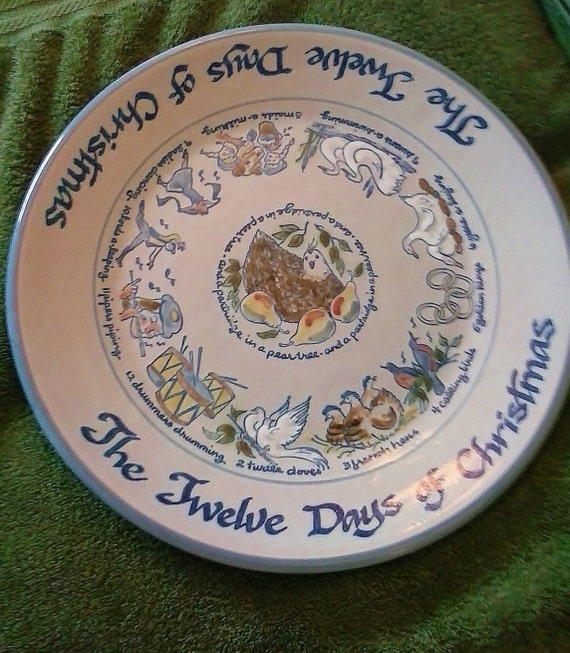 Louisville stoneware twelve days of christmas platter pristine for Linea carta canape plates