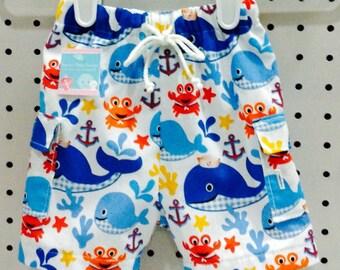 Baby Boy Whale Swim Trunks/Swimsuit/Swim Shorts
