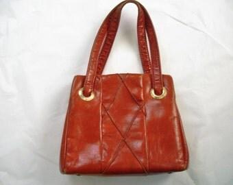 Rust Colored Vintage Mod 1970's JR Handbag