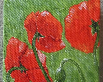 Mini-Painting, Poppies from the Back