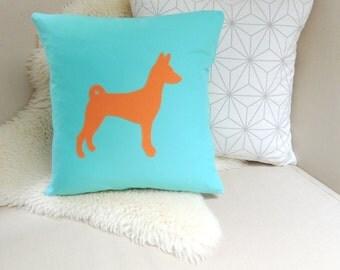 Basenji Pillow Cover - Custom Colors
